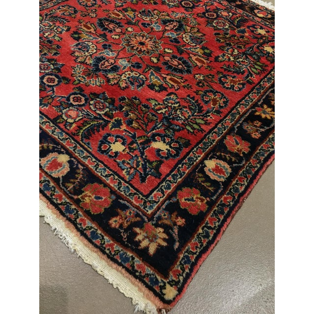 """Traditional 1920s Vintage Persian Hamadan Square Rug, 3'3"""" X 3'5"""" For Sale - Image 3 of 6"""