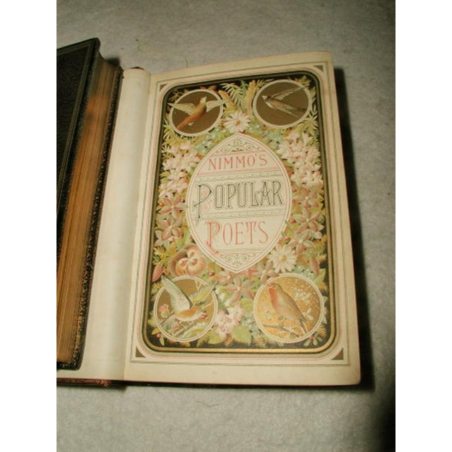 """""""Scott's Poetical Works"""" Illustrated Leather Bound - Image 6 of 8"""