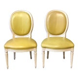Image of Louis XVI Yellow Side Chairs For Sale