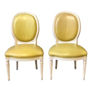 Louis XVI Yellow Side Chairs For Sale