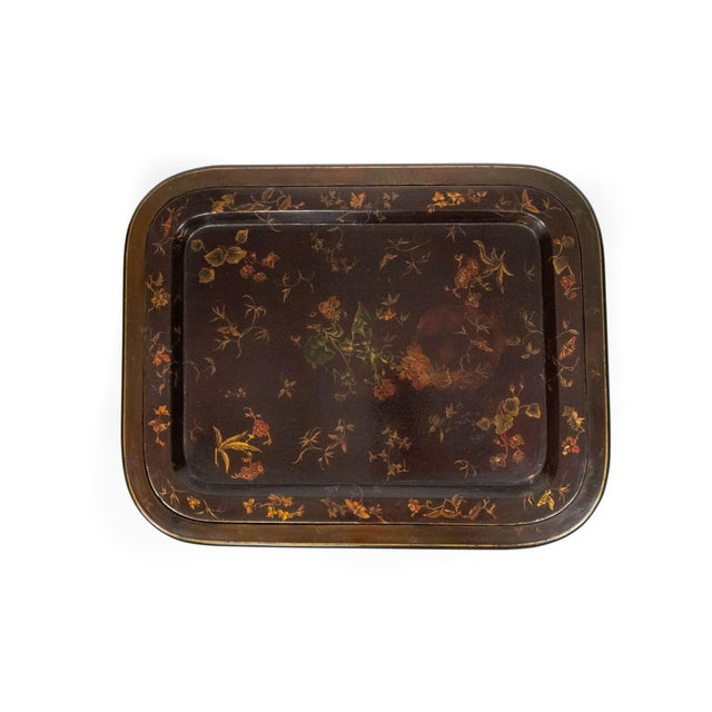 English English Regency Brown Lacquered Coffee Table For Sale - Image 3 of 10