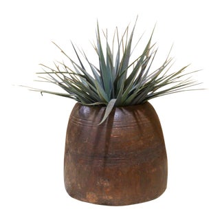 Tribal Wooden Pot Planter For Sale