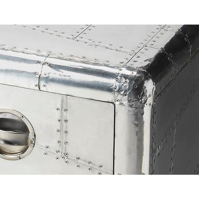 Aluminum Aviator Metal Side Table - Image 5 of 5