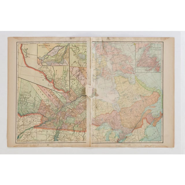 Americana Cram's 1907 Map of Ontario For Sale - Image 3 of 8