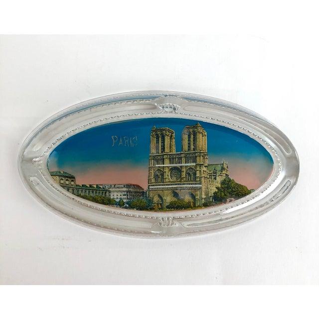 Glass 1940s Paris Souvenir Ashtray For Sale - Image 7 of 7