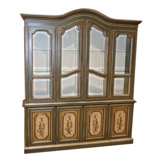 Vintage Drexel Venetian Style China Cabinet