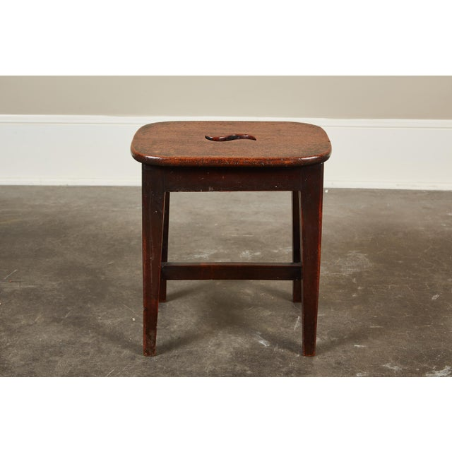 Small 19th Century English Georgian Oak Stool - Image 4 of 6