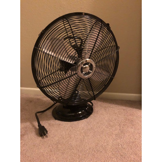 Black Ecco Fan model 300T. Works perfect, almost look like new. Nice piece for in the bedroom or living room. Can be used...
