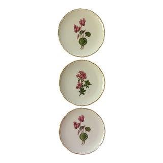 Vintage Schumann Arzberg Germany Porcelain Botanical Plates - Set of Three For Sale