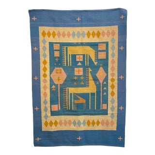 Large Mid-Century Modern Tapestry Rug For Sale