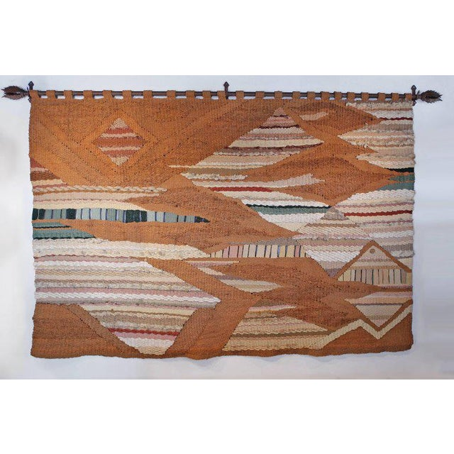 Bronze Massive Romeo Reyna Fiber Art Tapestry Commissioned by Steve Chase For Sale - Image 7 of 7