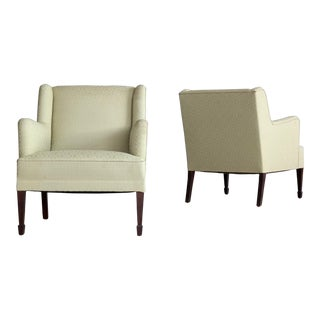 Danish Mid-Century Pair of Lounge Chairs by Frits Henningsen For Sale