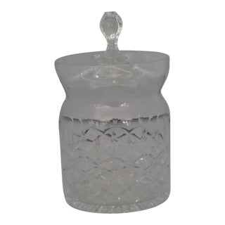 Vintage Dimond Design Cut Crystal Lidded Jam Jar