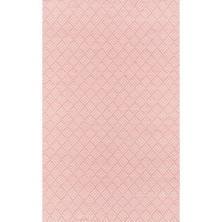 """Madcap Cottage Baileys Beach Beach Club Pink Indoor/Outdoor Area Rug 7'6"""" X 9'6"""" For Sale"""