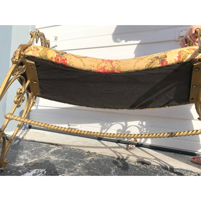 Metal Early 20th Century French Boudoir Bench For Sale - Image 7 of 12