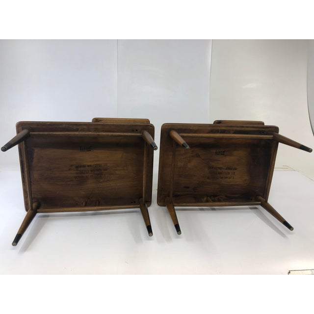 Vintage Mid Century Modern Step Tables - a Pair - Acclaim by Lane Furniture For Sale - Image 11 of 13