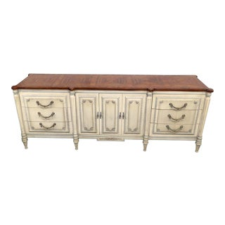 20th Century Louis XV Style Distressed Painted Sideboard For Sale