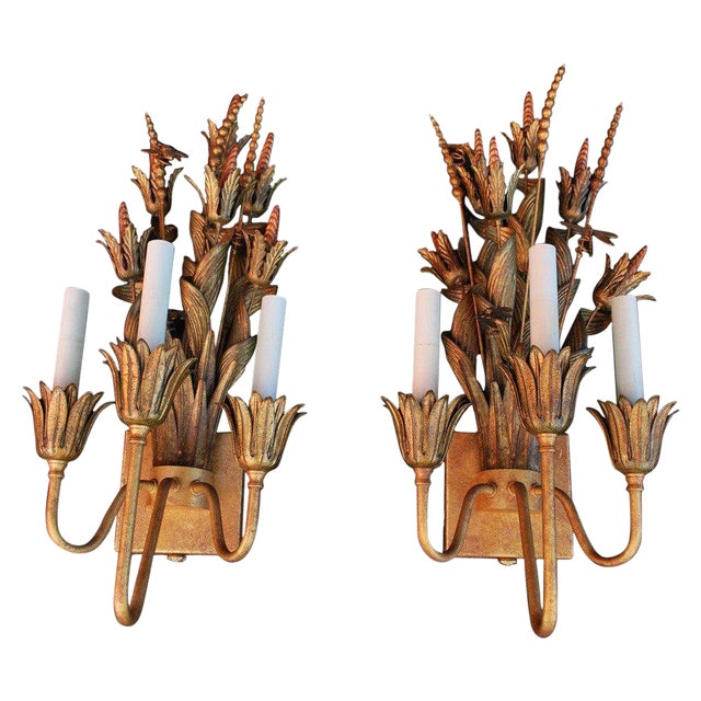 Antique Sconces by Frederick Cooper - A Pair For Sale