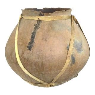 Vintage Large Tarahumara Terracotta Tesgüino Fermenting Pot For Sale