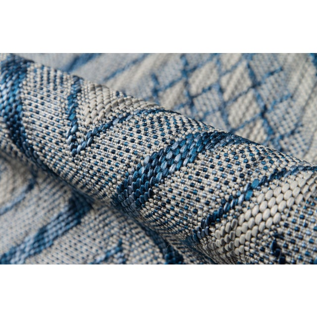"""Madcap Cottage Lake Palace Rajastan Weekend Blue Indoor/Outdoor Area Rug 5'3"""" X 7'6"""" For Sale - Image 4 of 7"""