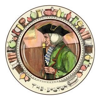 """1950s English Traditional Royal Doulton Series Ware Plate, """"The Doctor"""" For Sale"""