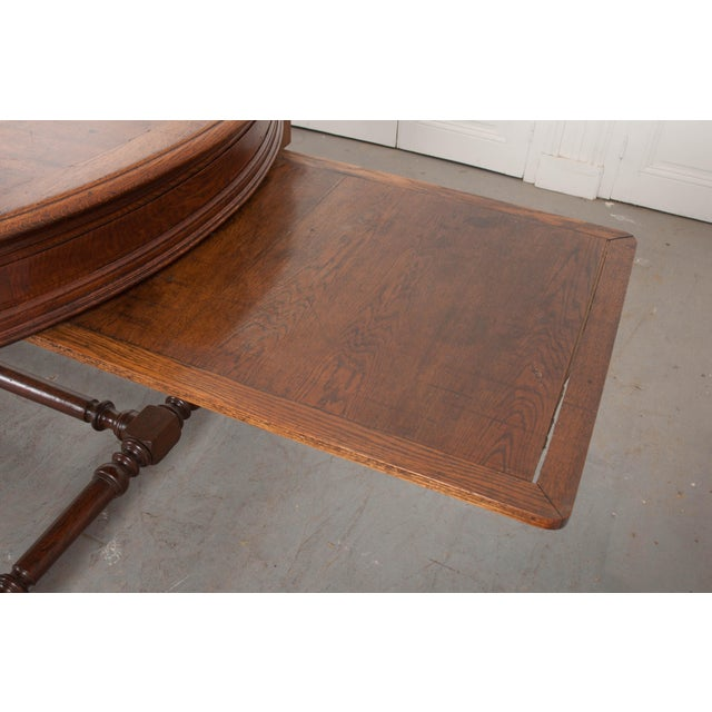 19th Century French Oak Sewing Table For Sale - Image 11 of 13