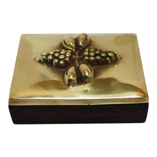 Brass Decorative Trinket Box For Sale