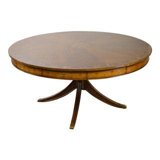 "Jonathan Charles 62"" Round Inlaid Mahogany Dining Table"
