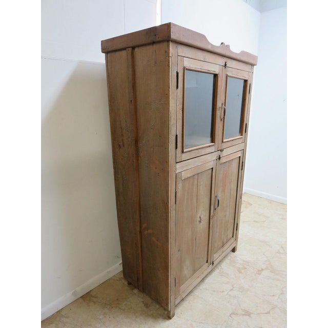 Antique Primitive Hutch China Cabinet Cupboard - Image 3 of 7