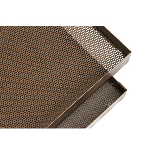 Architectural Bronze Mesh Letter Tray For Sale - Image 10 of 13