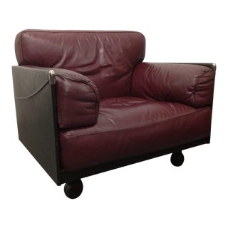 Leather Lounge Chair by Poltrona Frau For Sale