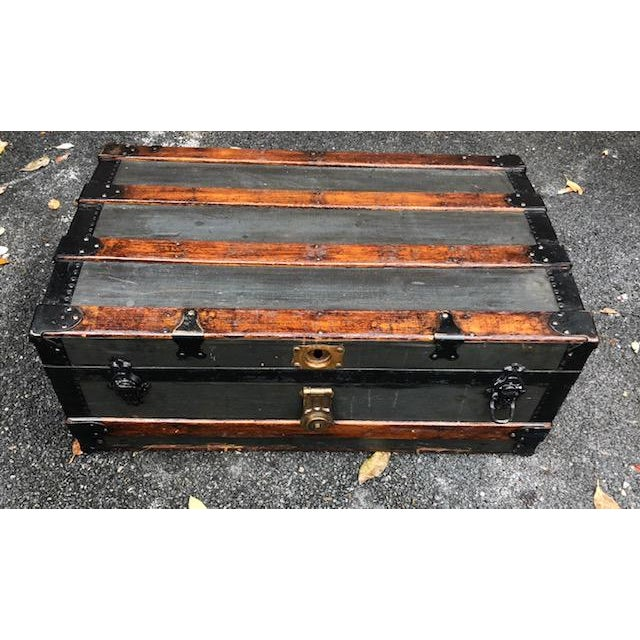 19th Century American Classical Customized Travel Trunk For Sale - Image 12 of 12