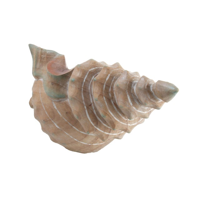 Handcrafted Wooden Seashell Sculpture - Image 4 of 8