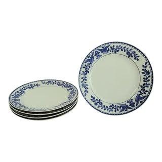 "Vintage Mid 20th Century Nippon ""Royal Sometuke"" Blue & White Cake Plates - Set of 5 For Sale"