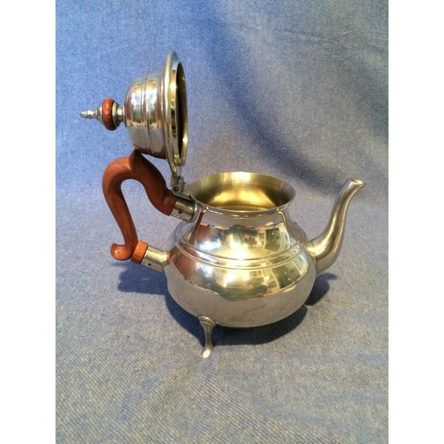 Williamsburg Pewter Tea Set - Set of 4 - Image 4 of 8