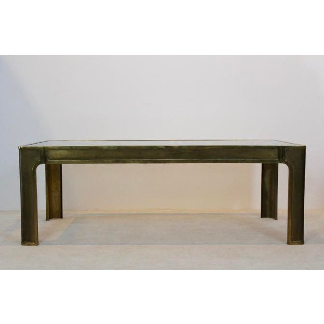 Peter Ghyczy Style Brass and Glass Coffee table - Image 5 of 8