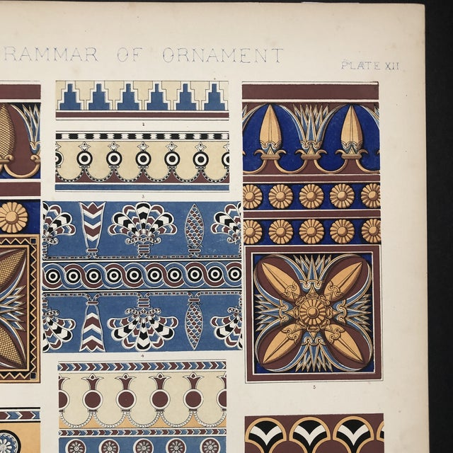 Persia and Nineveh Plate From Grammar of Ornament For Sale - Image 4 of 10