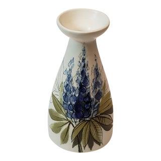 Vintage Hikka-Liisa Ahola Arabia Finland Delphinium Vase, Signed For Sale
