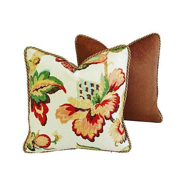 Designer Schumacher Kelmscott Manor Pillows - Pair - Image 5 of 7
