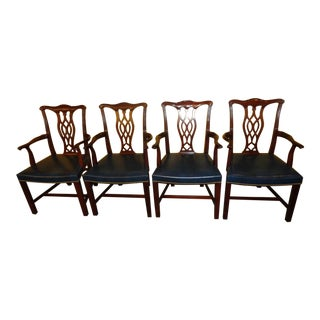 Hickory Chair Co. Chippendale Style Armchairs - Set of 4