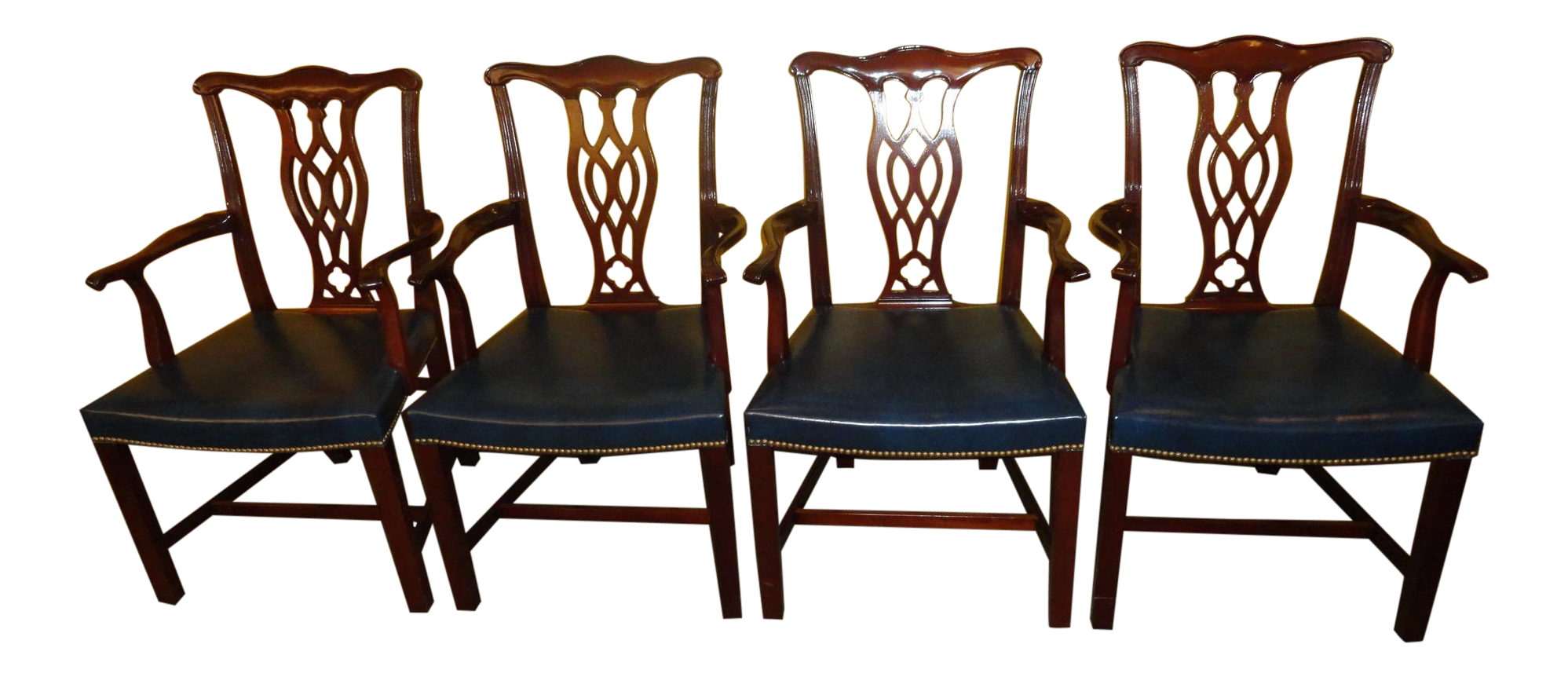 Hickory Chair Co. Chippendale Style Armchairs   Set Of 4