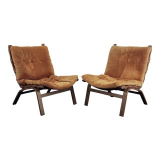 Vintage Farstrup Lounge Chairs - a Pair For Sale