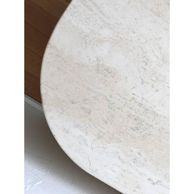Stone Polished Italian Travertine Cocktail Table For Sale - Image 7 of 9