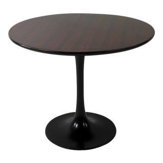 Knoll Style 1960s Rosewood Tulip Table For Sale