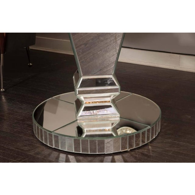 Venfield Custom Round Mirrored Dining Table For Sale - Image 4 of 8