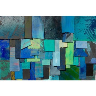 Abstract Blue Tapestry Painting For Sale