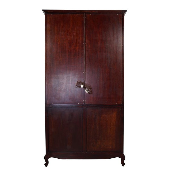 Brown Antique Chinese Carved Rosewood Display/Curio Cabinet For Sale - Image 8 of 9