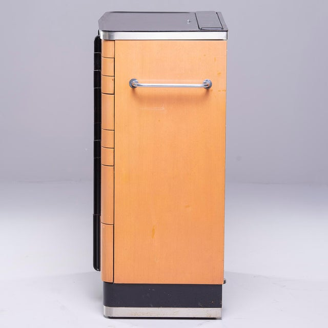 Art Deco Era Medical Cabinet in Maple and Black For Sale In Detroit - Image 6 of 13