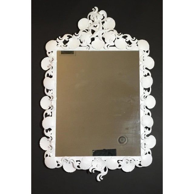 Americana Organic Modern Iron Sea Shell Mirror For Sale - Image 3 of 13