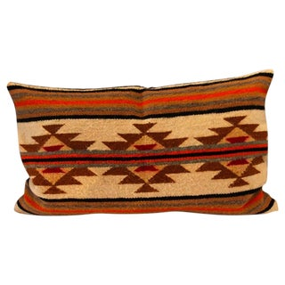 Navajo Indian Weaving Geometric Bolster Pillow For Sale